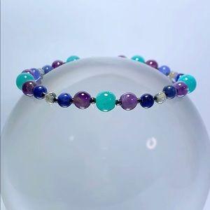 Jewelry - Genuine Amethyst, Amazonite, and Lapis Bracelet!